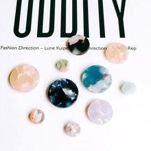 Forma redonda resina plástico ácido acético eardrop diy material pingente colar brinco encantos componente jóias 10 pçs