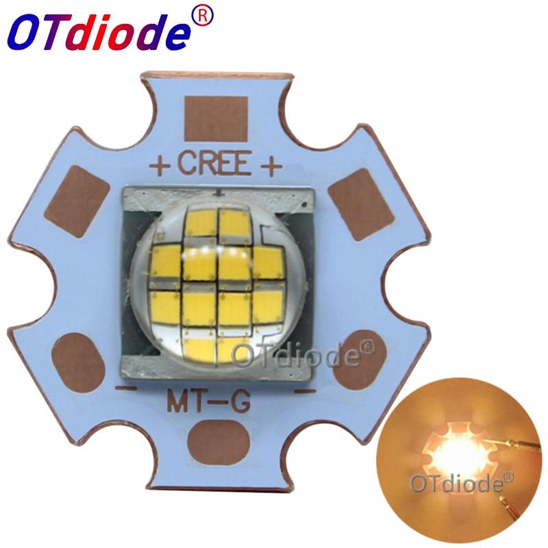 2PCS Cree MT-G MTG LED Warm White 18W-24W 3000K DC36V LED Light Diode Flashlight Part For Spot Light On 20mm Copper PCB