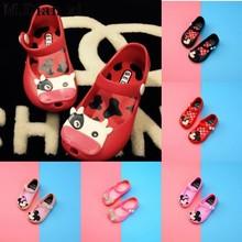 Модная обувь для девочек; коллекция года; Летняя мужская и женская обувь для сада; модная пляжная обувь из ПВХ; обувь принцессы с рисунком Минни Маус