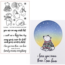 Bears&Blessings Clear Stamps Sweet Bear&Phrases For DIY Card Making Kids Transparent Silicone Stamp New 2019 jillian hart sweet blessings