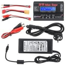 Htrc B6 V2 80W 6A Dc Digitale Batterij Balans Lader Ontlader Zwart Voor 1 6S Lipo Batterij