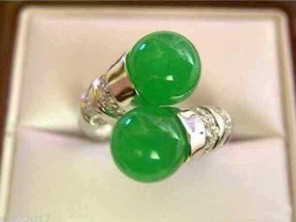 เครื่องประดับไข่มุกแหวนขายร้อนสไตล์ใหม่ >>>> ธรรมชาติที่สวยงามแหวนหยกสีเขียวจัดส่งฟรี