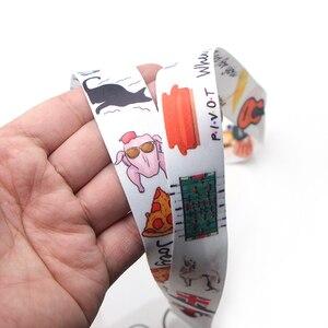 Image 5 - CA249 toptan 20 adet/grup arkadaşlar TV anahtarlık boyunluklar kimlik kartı sahibi kimlik kartı geçiş cep telefonu USB rozeti tutucu anahtar kayış 1 adet
