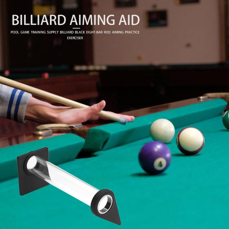 Billiards Training Accessories Stroke Exerciser Pool Game Black Eight-Bar Rod Aiming Practice Trainer Supplies