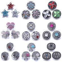 Boom LIfe 10pcs/lot New 18mm Snap Buttons Jewelry Rhinestone Mixed Buttons Snap Jewelry Fit 18mm Snap Bracelet Necklace Jewelry 20pcs 50pcs lot kcd4 31 25mm 4pin 16a 250v snap in dpst on off position snap boat rocker switch copper feet