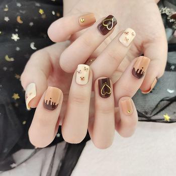 24 sztuk sztuczne paznokcie sztuczne paznokcie sztuczne fałszywe krótkie paznokcie paznokci pełna pokrywa naturalne sztuczne paznokcie Salon pielęgnacji paznokci Art DIY dla kobiet DL tanie i dobre opinie CN (pochodzenie) Palec short 24pcs 292897 Z tworzywa sztucznego normal Pełne końcówki paznokci