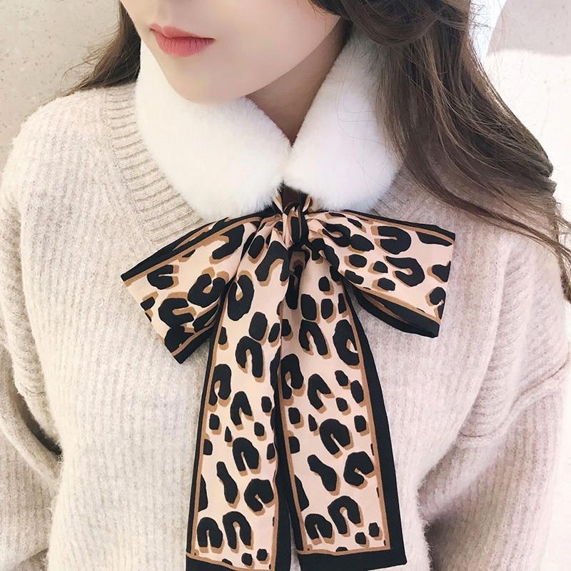 2019 Soft Women Faux Rabbit Fur Collar Scarf Plush Collar Neck Fashion Warmer Winter Shawl Wrap Girls Echarpe Femme Hiver