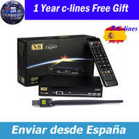 V8 Super receptor DVB-S2 Satellite Receiver Full 1080P HD FTA Satellite decoder+USB WIFI Biss Key newcam 3G Youporn v8 nova