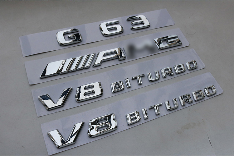 Car Letters Badge Rear Sticker Emblem Styling For W463 G Class G43 G55 G63 G65 G230 G300 G350 G550 G500