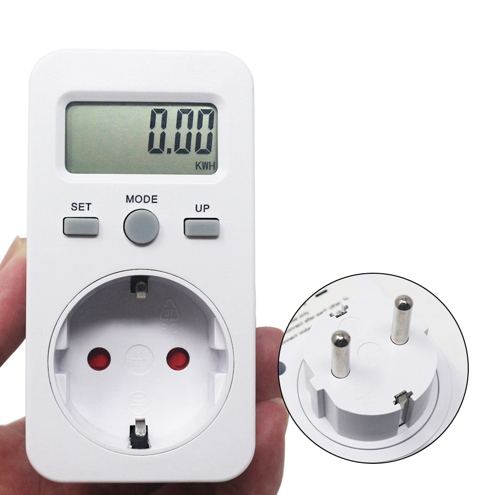 KETOTEK ดิจิตอล wattmeter LCD Energy Monitor AC 230V 16A 3680W EU ปลั๊กไฟฟ้าทดสอบ Energy Meter