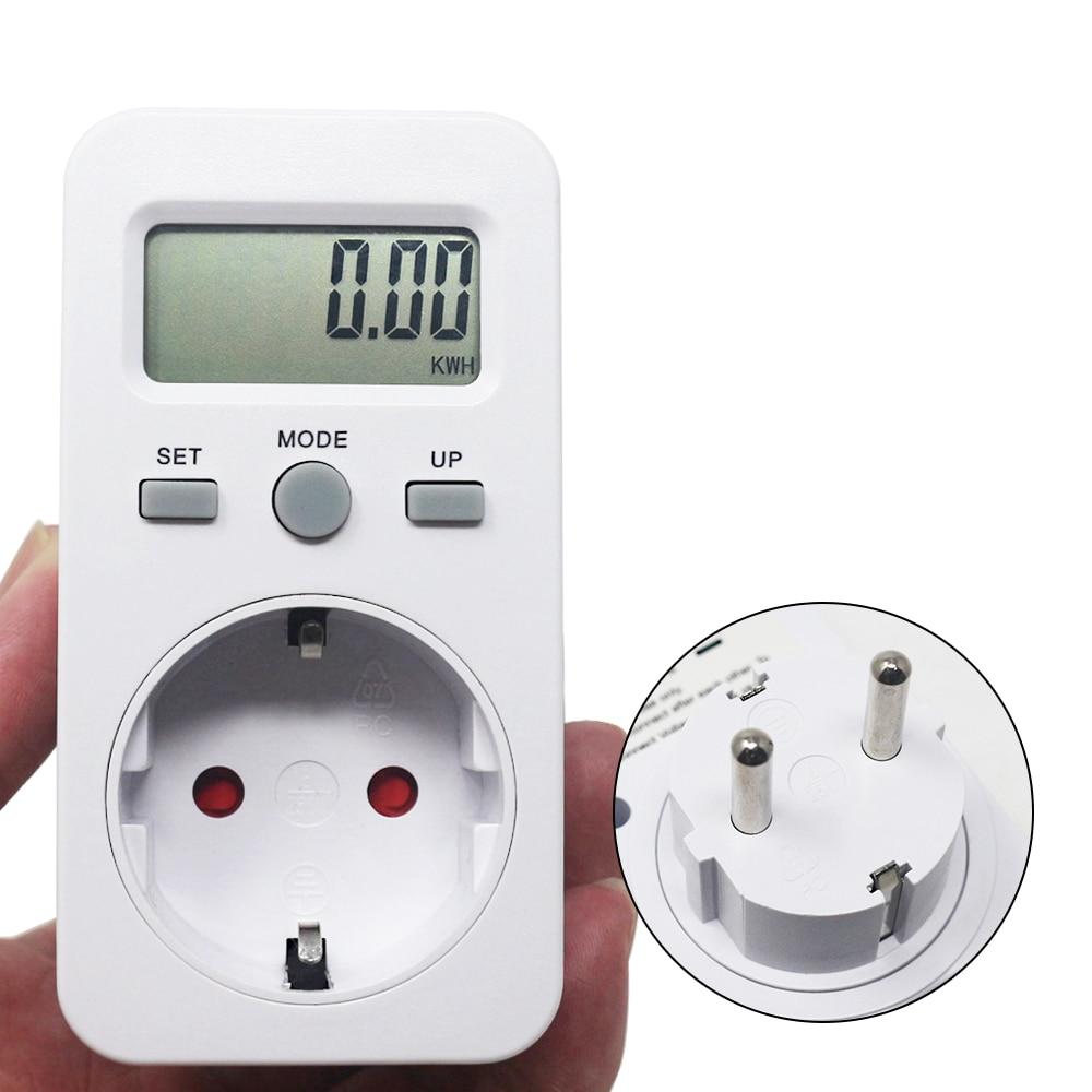 KETOTEK Digital Wattmeter LCD Energy Monitor Power Meter AC 230V 16A 3680W EU Plug Electric Test Energy Meter