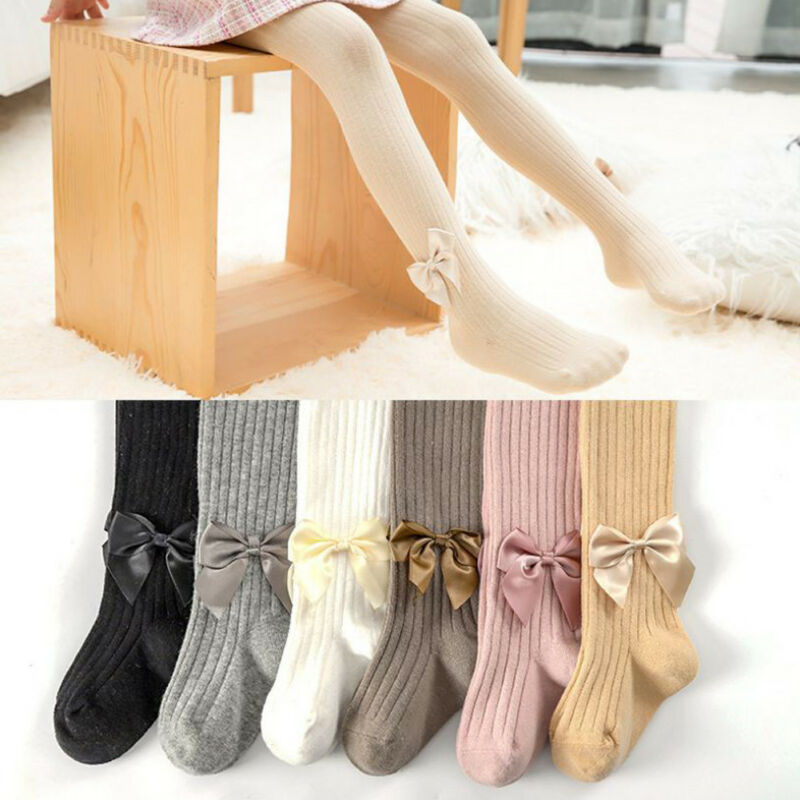 Summer Girls Children Dance Bowknot Embroidery Sheer Stockings Pantyhose Tights