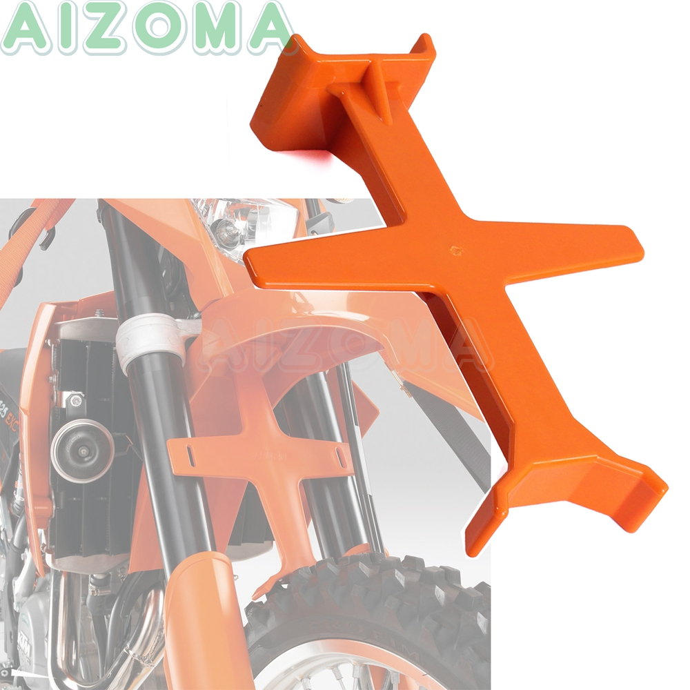 Krator Motocross Dirt Bike Fork Support Brace Stand Protector 18 cm Compatible with KTM Honda Black Harley Davidson Softail Fat Boy FLSTF