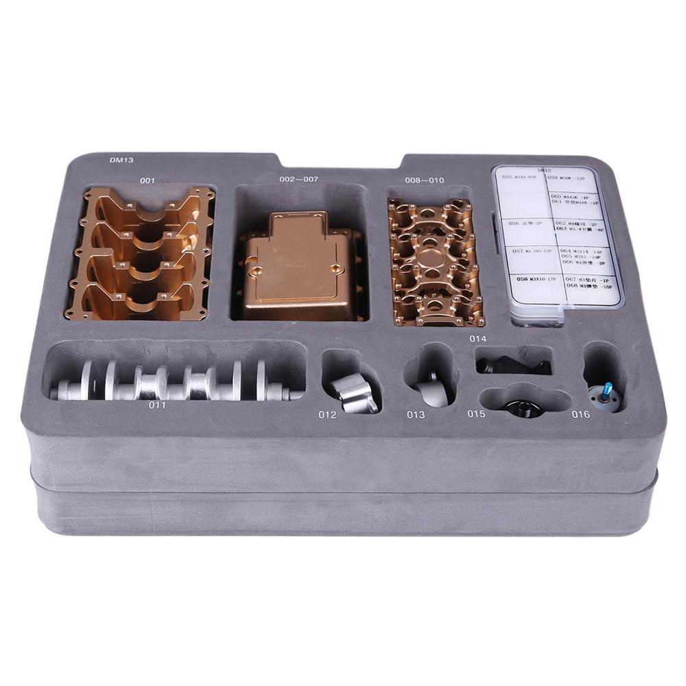 All metal carro mini montar inline quatro cilindro modelo de motor de carro brinquedos modelo kits de quebra cabeça brinquedos para adulto emenda hobby construção - 5