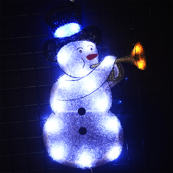 цена на 2D EVA snowman motif Christmas light navidad led decoration party lights xmas tree fairy lights outdoor