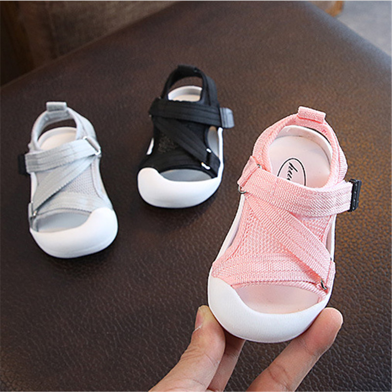 2019 Summer Infant Toddler Shoes Baby Girls Boys Toddler Sandals Non-Slip Breathable Soft Kid Anti-collision Shoes