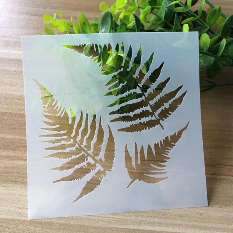 1pc Stencils Leaves Template Drawing Paper Stencils Painting Photo Album Scrapbooking Diary Bullet Journal Stencils DIY Reusable