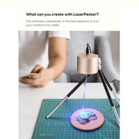 1.6W Compact Laser Engraver Machine  Laser Pecker Mini Desktop Laser Engraving Portable Laser Etcher Laser Cutter Printer Safety|Wood Routers| |  -