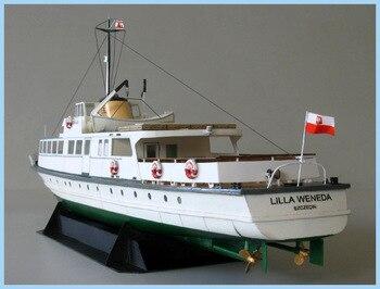 1:100 40cm Poland Ferry Ship Fine DIY 3D Paper Card Model Building Sets Construction Toys Educational Toys Military Model 1