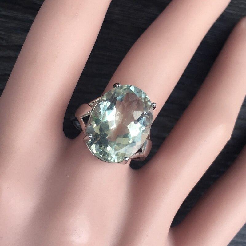Image 5 - CSJ большой камень 13ct кольцо с зеленым аметистом овальной  огранки 13*18 стерлингового серебра 925 натуральный драгоценный камень  хорошее ювелирное изделие для женщин Девушка подарочная коробкаКольца