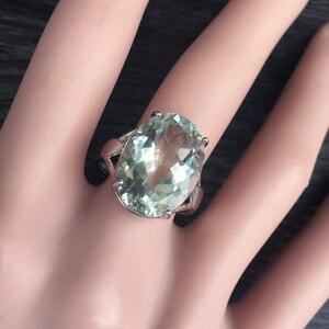 Image 5 - CSJ Big stone 13ct Anello di ametista verde ovale cut 13*18 anello in argento sterling 925 naturale della pietra preziosa gioielli per contenitore di regalo delle donne della ragazza