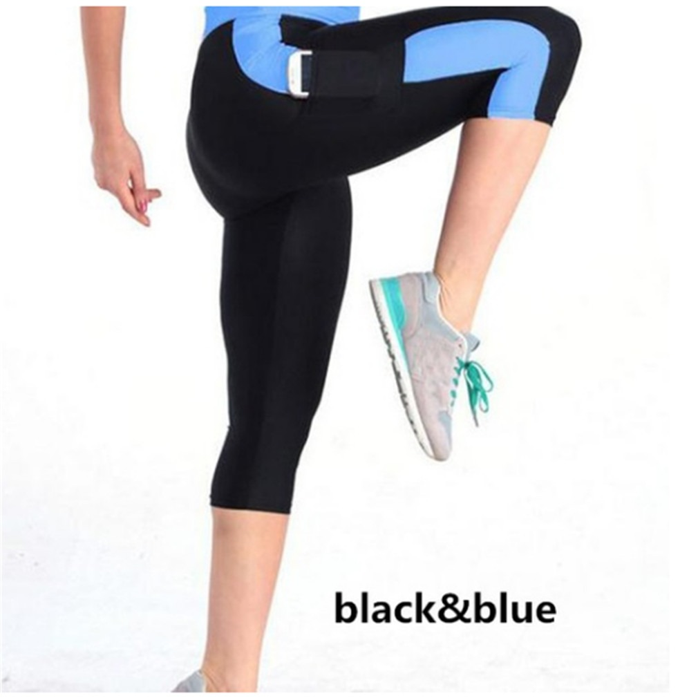 Patchwork Leggings For Women Fitness Leggings Mid Calf High Waist Leggings Elastic Legins Women Capris Pants Female Trousers