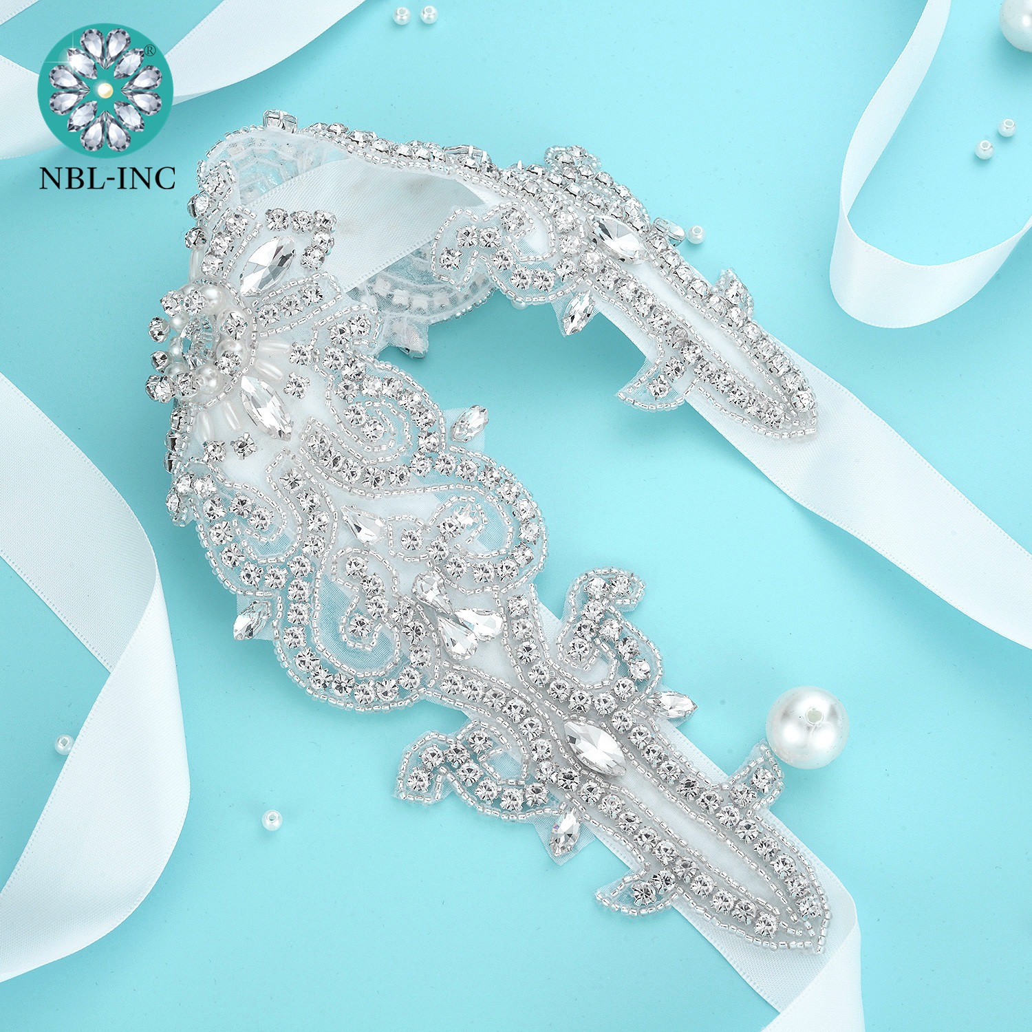 (1PC) Rhinestone bridal belt wedding with crystal diamante wedding dress accessories sash belt for wedding dress WDD1050