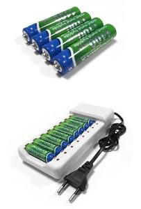 Image 5 - VOXLINK شاحن بطارية ذكي 8 فتحات الاتحاد الأوروبي كابل ل AA/AAA Ni Cd بطاريات قابلة للشحن ل ميكروفون التحكم عن بعد كاميرا