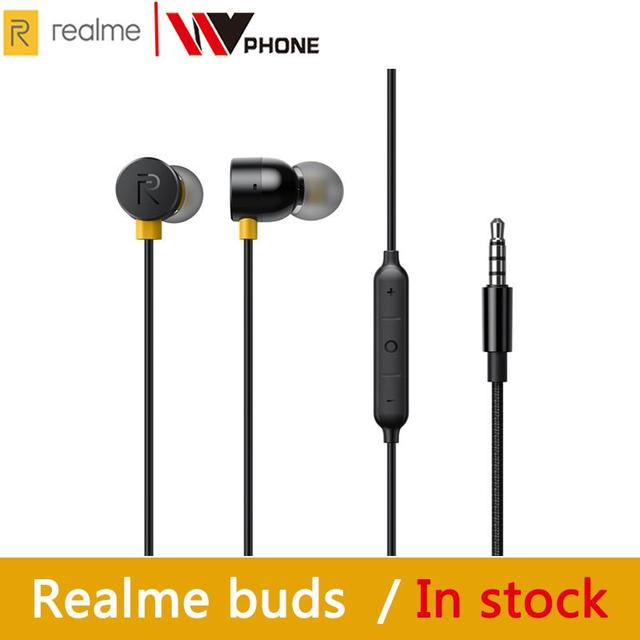OPPO realme buds 2 earphone Built in Magnes 11.2mm Bass Boost Driver Dual Tangle Free Design for realme x x2 x2 pro 3