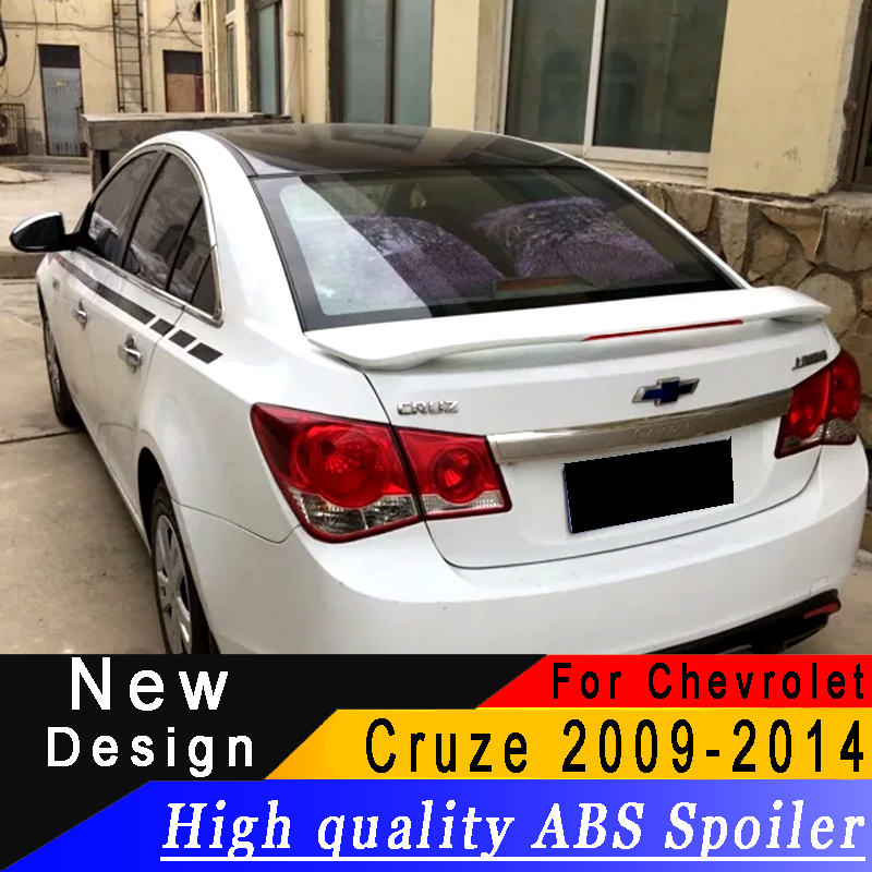 For <font><b>Chevrolet</b></font> <font><b>Cruze</b></font> <font><b>2009</b></font> to <font><b>2014</b></font> spoiler High quality ABS primer or any color with Brake lamp car rear spoiler for <font><b>Cruze</b></font> image