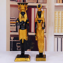 2 Pcs/lot Mesir Kuno Allah Pharaoh God Of War Patung Resin Kerajinan Cleopatra Seni Patung Desktop Rumah Dekorasi Souvenir(China)