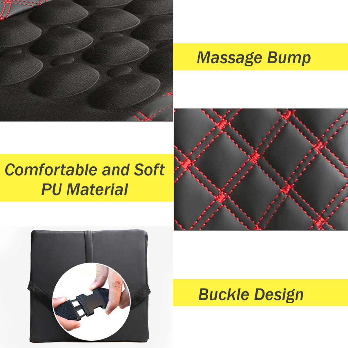 12V Car Massage Lumbar Cushion Car Electric Massage Cushion lumbar Massage Car Seat Back Cushion Waist support 4