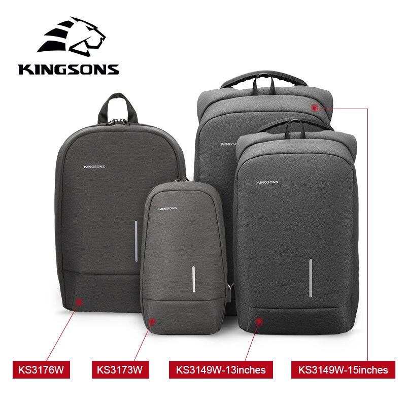 KINGSONS 2019 New Year's Gift Christmas Present Men Women Fashion Laptop Backpack Business Casual Travel Backpack Shoulder Bag