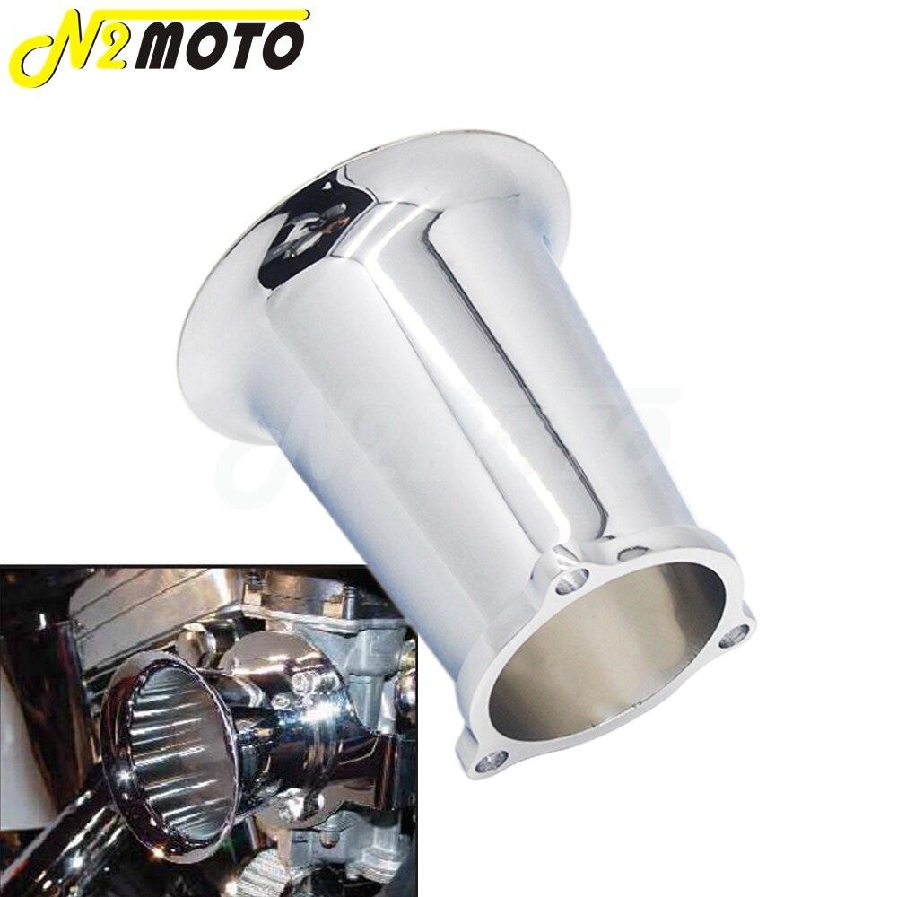 Chrome Motorcycle 6061 Billet Aluminum Velocity Stack Carburetor Air Cleaner For Harley Carburetor Velocity Stack Cv Carburetor