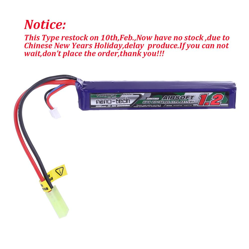 Hobbyking Turnigy Nano-Tech 1200mah 11.1v 3cell 25-50c Li-On Battery For Foam Darts Blaster And Water Gel Blaster Beads