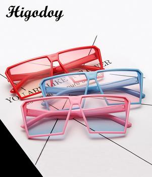 Higodoy ponadgabarytowe okulary przeciwsłoneczne dla dzieci w stylu Vintage dla chłopców Retro okulary przeciwsłoneczne dla dzieci okulary przeciwsłoneczne dla dziewczynek Anti-UV400 Gafas tanie i dobre opinie Chłopcy Z tworzywa sztucznego Plac Lustro 6612 Żywica 56MM 42mm
