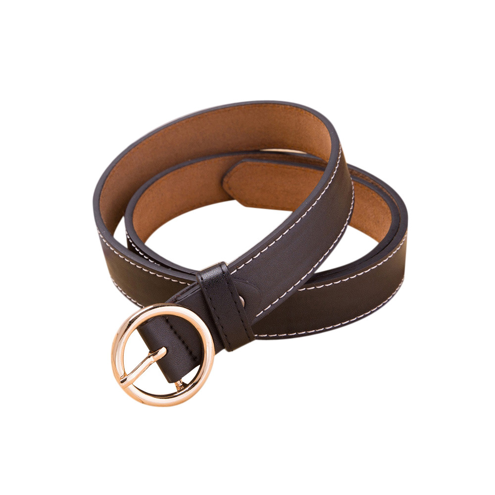 Jaycosin  Fashion Women's Vintage Accessories O-shape Thin Leisure Leather Belt Popular Classic Advanced Elasticity Belt