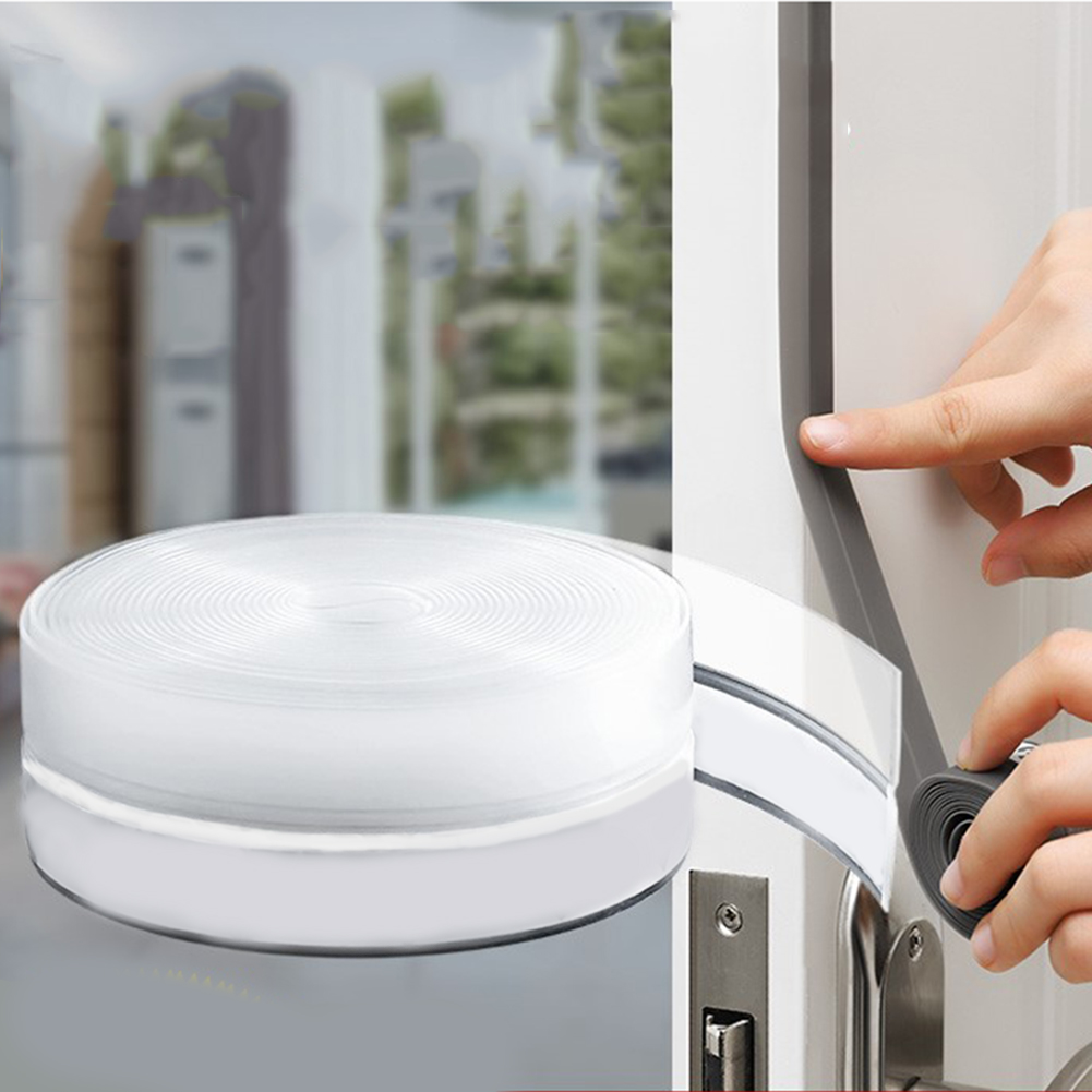 5 Meter Silicone Strip Self Adhesive Door Seal Strip Bottom Door Seal Windproof Soundproof Windshield Doors & Windows Stripping