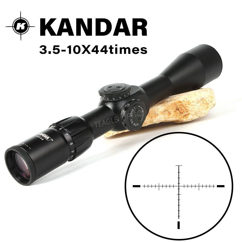 Hunting Riflescope 3.5-10X44 FFP Scope With Red Dot First Focal Plane Optics With 11 Or 20MM Rail Black Rifle Scope