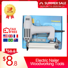 2 In 1 Electric Nailer Aluminum Alloy Tip Nail Stapler Push-pull Switch for Frame with Staples Nails Carpentry Woodworking Tools