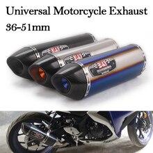 Universal Motorcycle Exhaust Modified Escape Muffler DB Killer 51mm For Honda CBR500X CBR1000RR Ninja400 R1 R3 Z900 MT03 PCX150