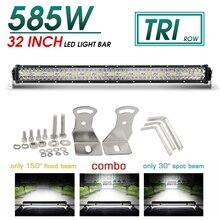 цена на CO LIGHT 3 Row 32 LED Bar 585W Led Light 4x4 Offroad Bar for 4WD Truck Trailer 4x4 SUV Spot Flood Combo LED Work Light 12V 24V