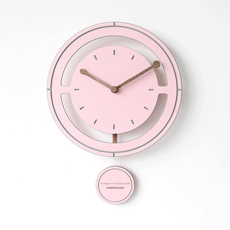 Nordic Luxury Wall Clock Art Simple Bedroom Fashion Wall Clock Pendulum Living Room Orologi Parete House Decor Clocks New MM60WC