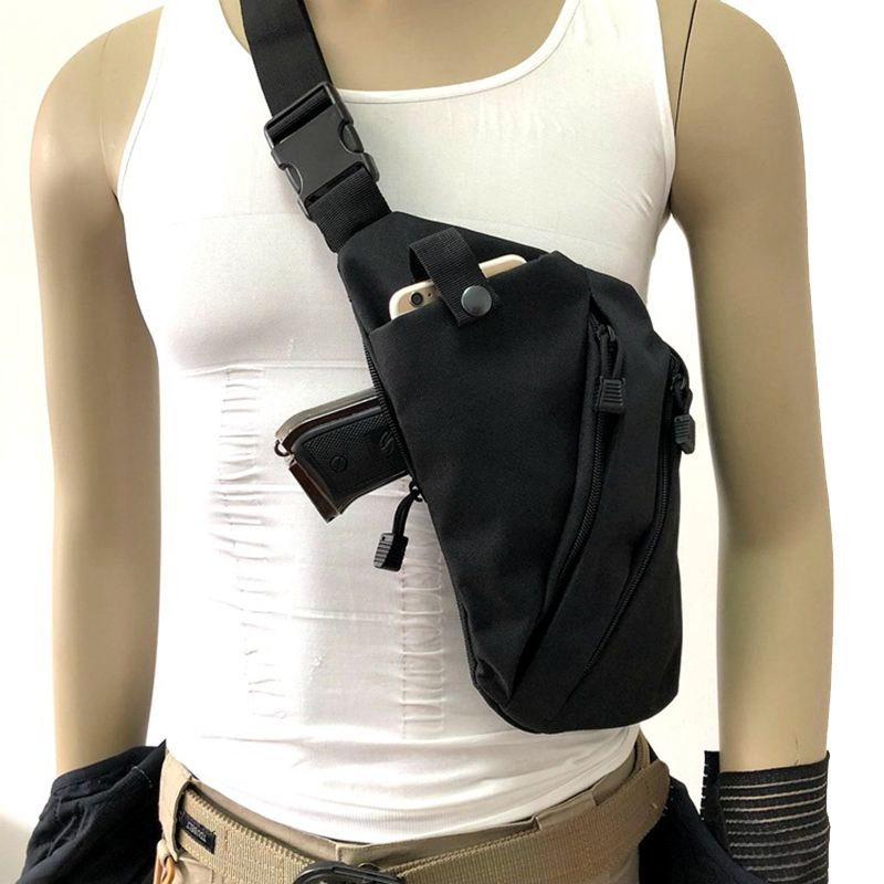 New Chest Bag Right Or Left Shoulder Bag Men Women Canvas Crossbody Waist Backpack Anti Theft Fashion Tactical Sling Bags