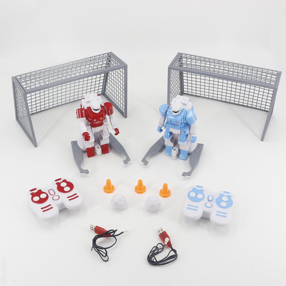 Free Shipping 1 Set 2.4G RC Soccer Robot Smart Battle Football Robot Toys Game Gifts For Children