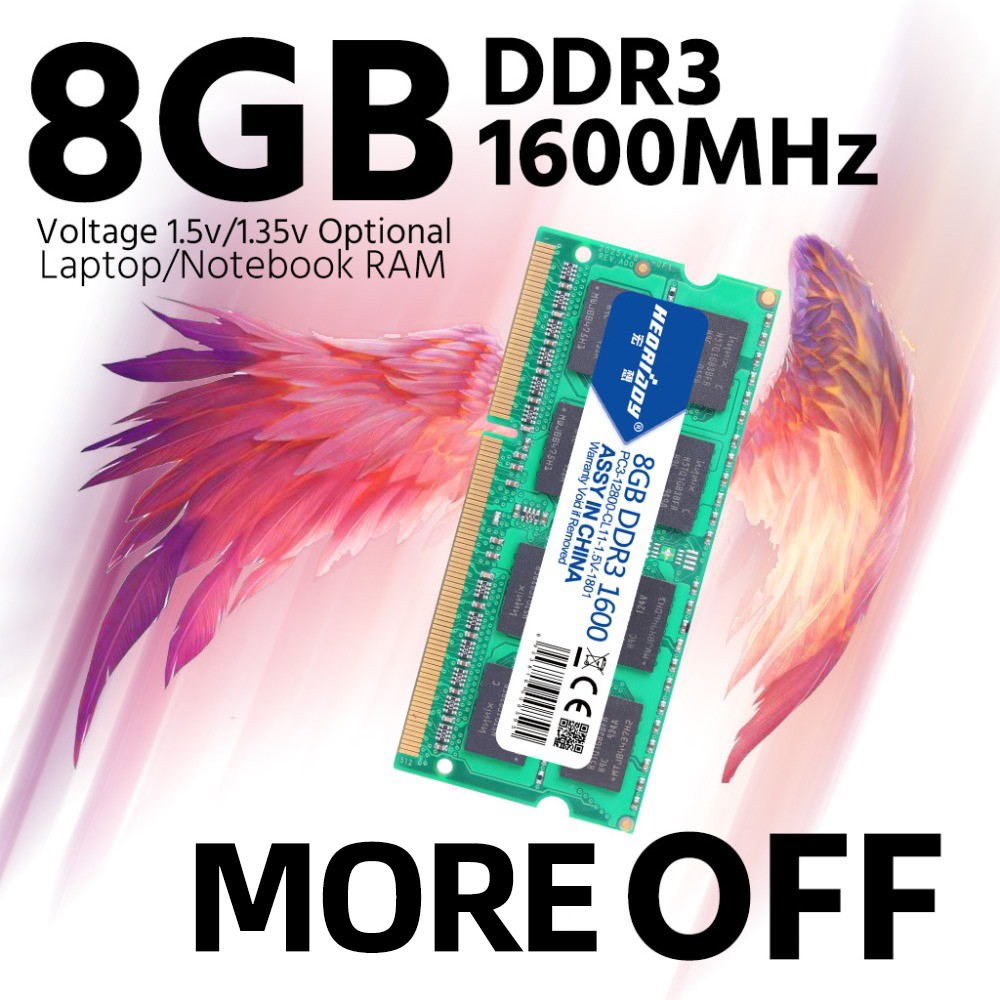 heoriady DDR3 8GB 1600 Ram for Laptop 1600MHz Sodimm Macbook ddr3l Compatible ddr3 Laptop 4gb 1333MHz Sdram 1066 Mhz 1