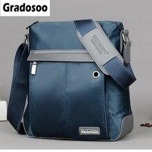 Gradosoo Waterproof Messenger Bag Men Business Bag Casual Shoulder Bags For Man Crossbody Bag Oxford Male Travel Bags New LBF674 недорого