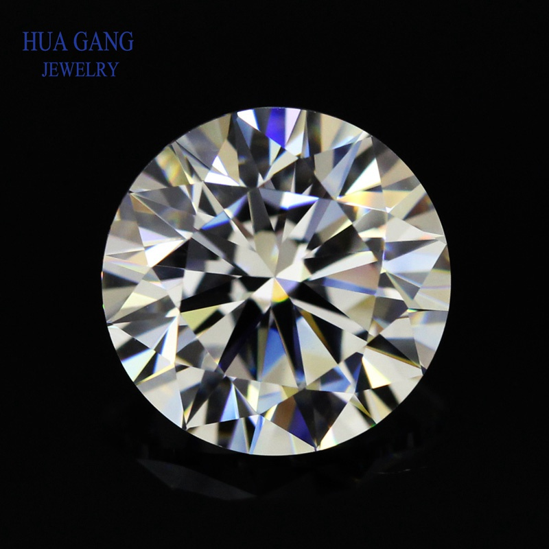 Round Brilliant Excellent Cut 4.0ct GH Color Moissanite Loose Stone Beads 10mm VVS1 Grade Test Positive Lab Diamond Gemstones image