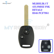 цена на Remote Head Key 434MHZ HON66 2 Button MLBHLIK-1T for Honda Uncut Blade Remote Car Key Replacement Remtekey