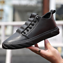 Autumn and winter plus velvet men's leather shoes Genuine Leather casual